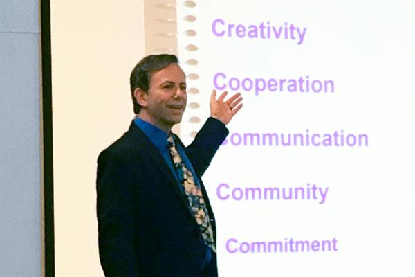 keynote speaker, Milo Shapiro