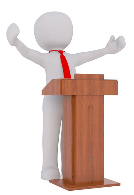 Best use of speaker's lectern (aka podium)