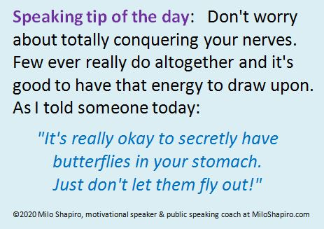Speaking Tip of the Day – On nerves